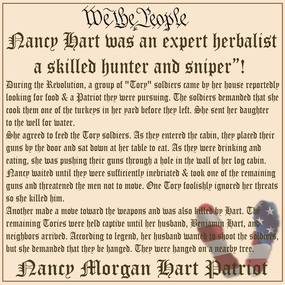 Revolutionary War Quotes About Nancy Morgan Hart Revolutionary War Hero And Sniper About