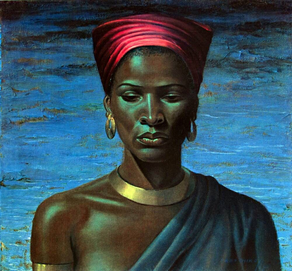 Vladimir Tretchikoff Zulu Girl 1951 Color Lithograph Portrait ...