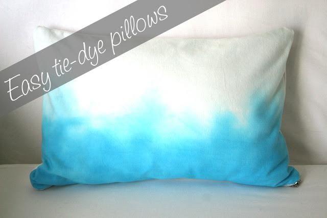 Diy Tie Dye Pillow Tutorial Home Decor