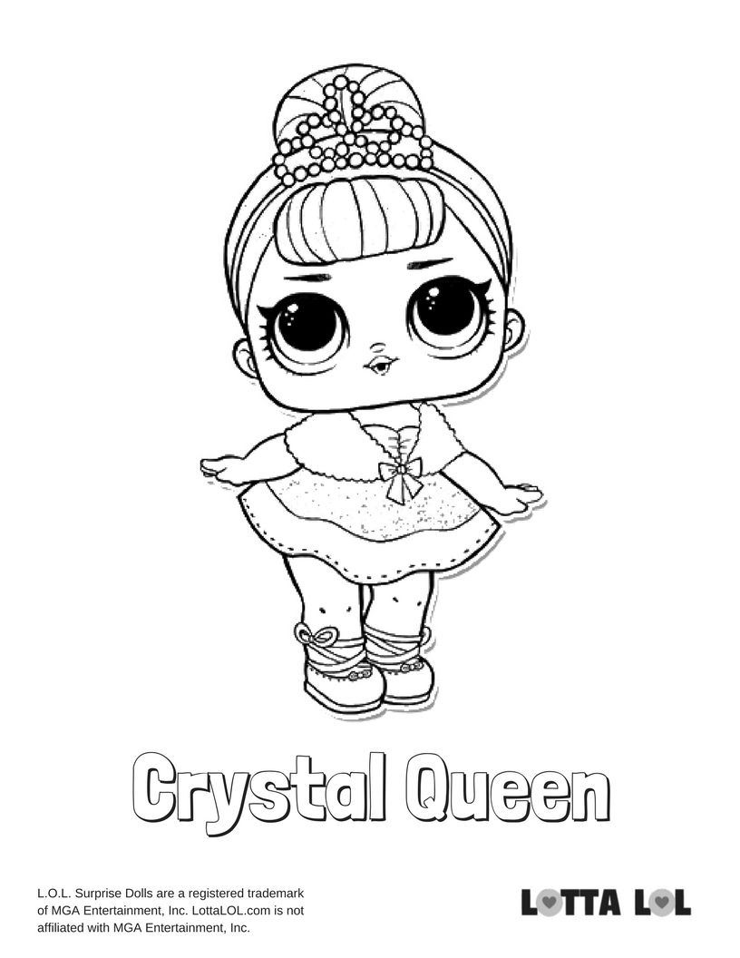 Crystal queen coloring page lotta lol