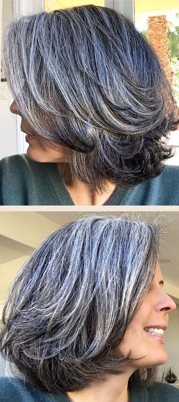 resultado de imagen de salt and pepper hair women | hair in
