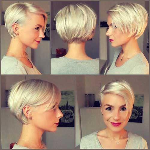 Sehr Beliebte Kurze Frisuren für Frauen mit Rundem Gesicht ...