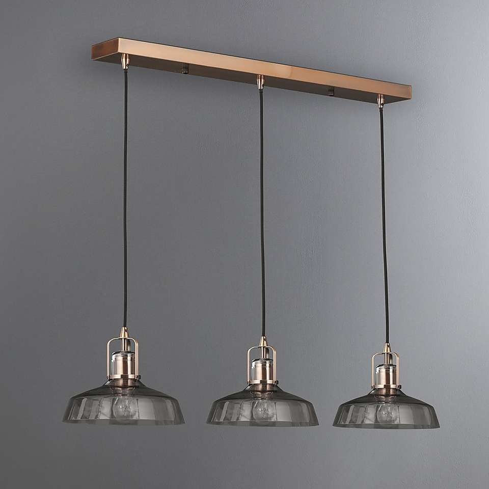 Suva 3 Light Diner Fitting Dunelm Ceiling Pendant Lights Ceiling Lights Flush Lighting