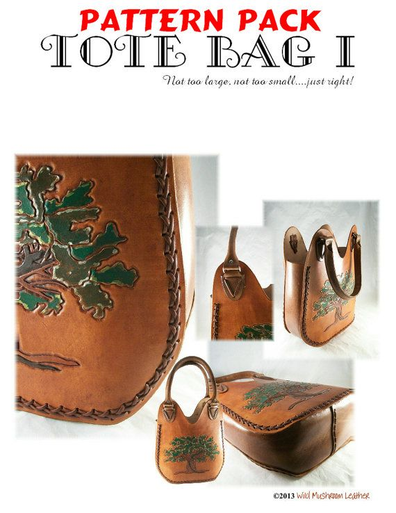 Tote Bag I leather pattern - PDF download - PDF pattern pack Only