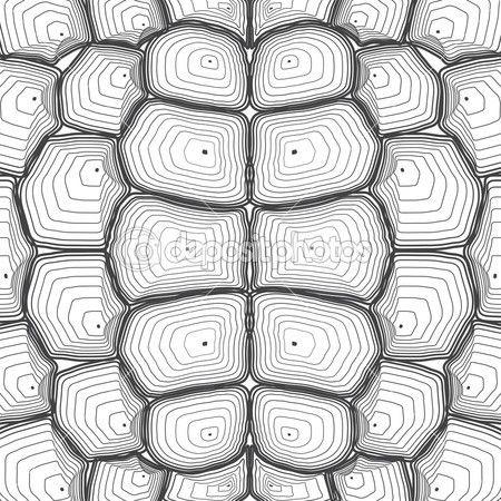 Fondo de concha de tortuga o patrón. Ilustración de vector | turtle ...