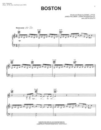 Thumbnail of first page of Boston piano sheet music PDF by