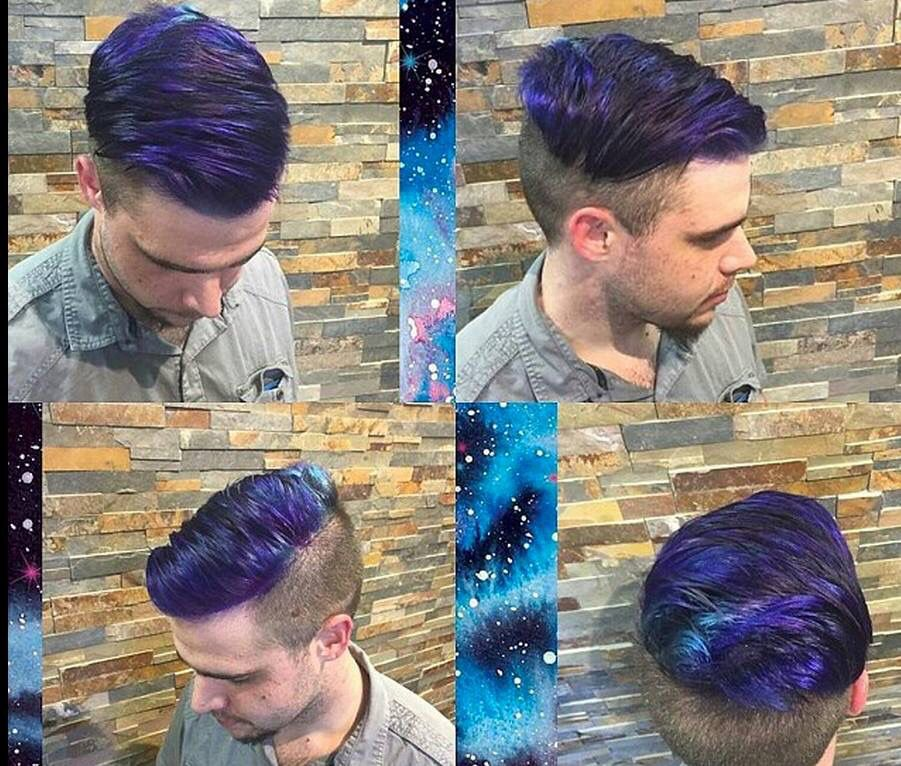 Galaxy Hair Men Hair Color Galaxy Hair Mens Hair Colour