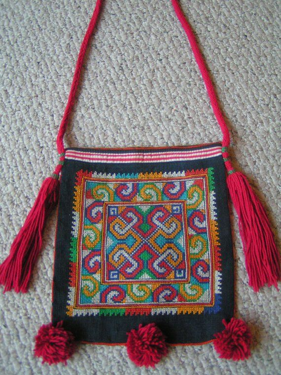 135283cb8f41 Ethnic Thai Bag---Hand-Embroidered---From Hill Tribe in Thailand ...