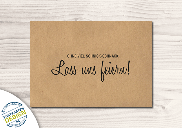 Photo of Humor – Witzige Party-Einladung / Postkarte – ein Designerstück von postkartend…