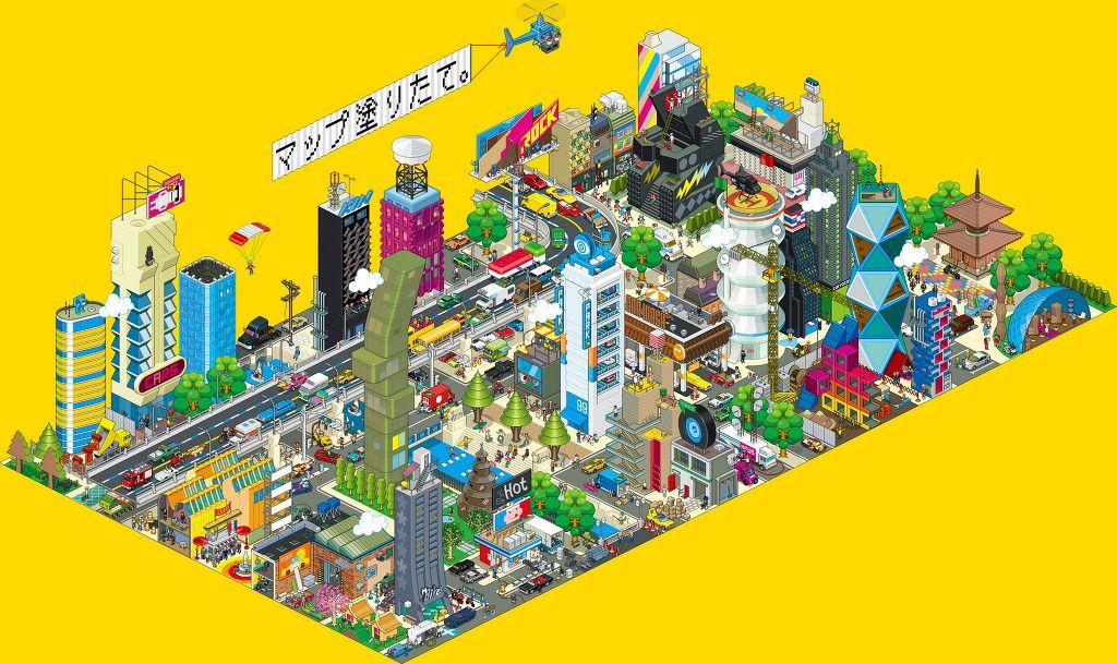 Creating memories on the planet :: integer eBoy pixel art works of eCity watch