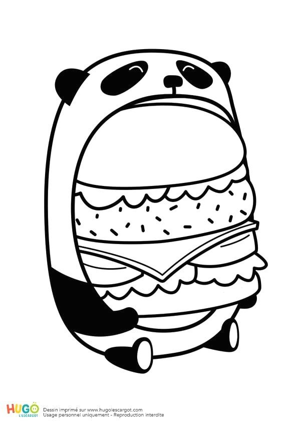 Dessin Kawaii A Imprimer : dessin, kawaii, imprimer, Coloriage, Kawaii, Nourriture, Dessins, Imprimer, Kawaii,, Dessin, Colorier,, Panda