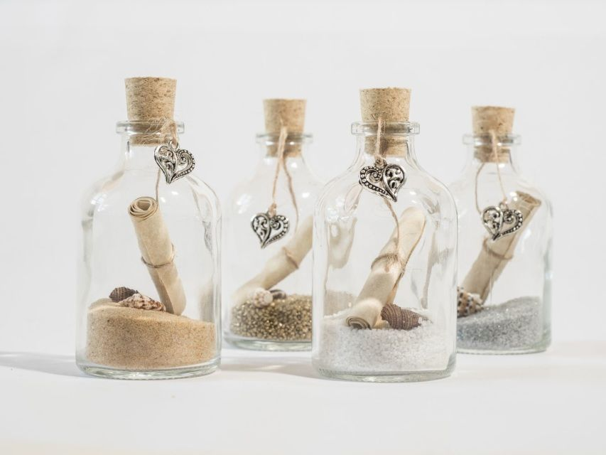 Message Bottle Scroll  Choose bead colour  ideal Gift//Wedding Favour