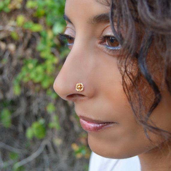 Gold Nose Stud Indian Nose Ring 22k Gold Nose Ring Gold
