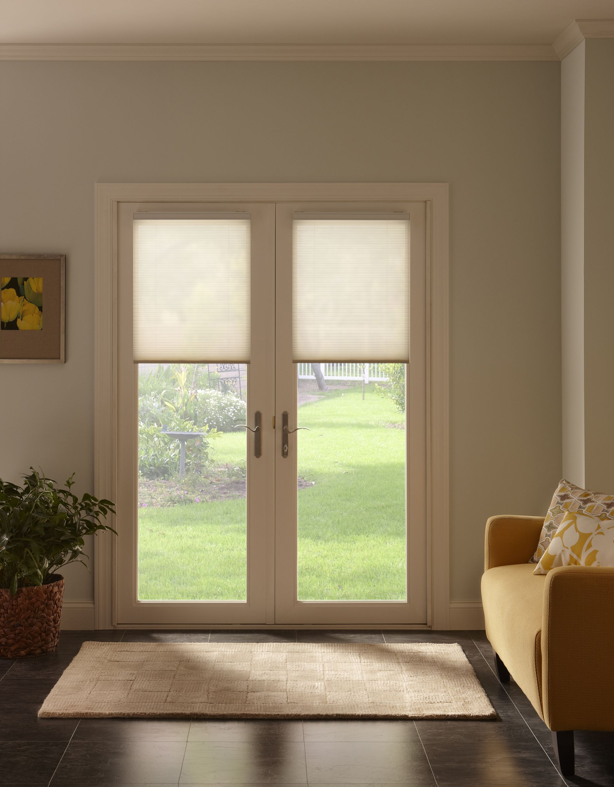 Cellular shades also called honeycomb shades remain the for Side door window coverings