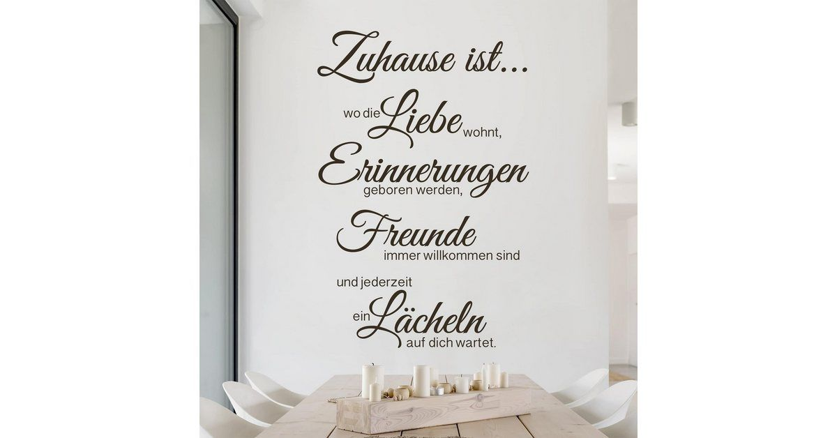 Photo of Wall decal »At home is«