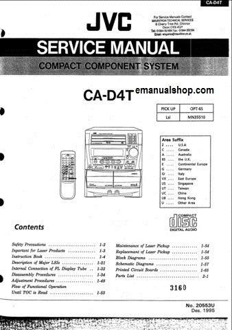 jvc compact component system ca d4t service manual download rh pinterest com Chilton Manuals jvc l a110 turntable repair manual