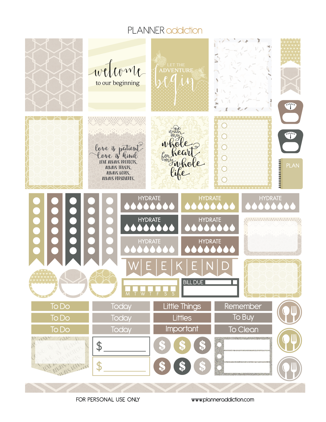 free printable planner stickers wedding eclp day planner s