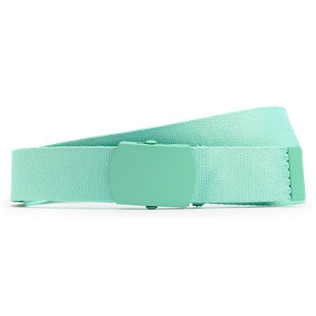Take things back to basics with the Zine Webster Aqua Blue web belt. This belt comes in a all Aqua Blue colorway and features a durable webbed canvas and an Aqua colored metal buckle so you can adjust it to fit just the way you like. Simple with no shortage of style, the Webster Aqua Blue web belt from Zine is a great choice to keep your pants up.