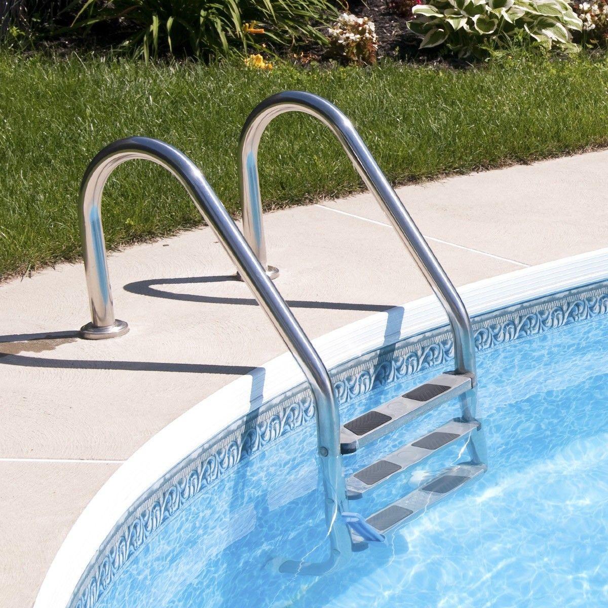 3 Steps Stainless Steel In Ground Swimming Pool Ladder Pool Ladder Swimming Pool Ladders Above Ground Pool Steps