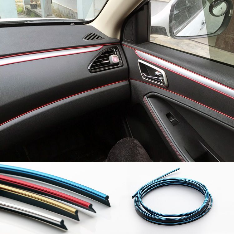 huanlisun 10 meters universal car styling pvc embedded decorative strip flexible trim for car. Black Bedroom Furniture Sets. Home Design Ideas