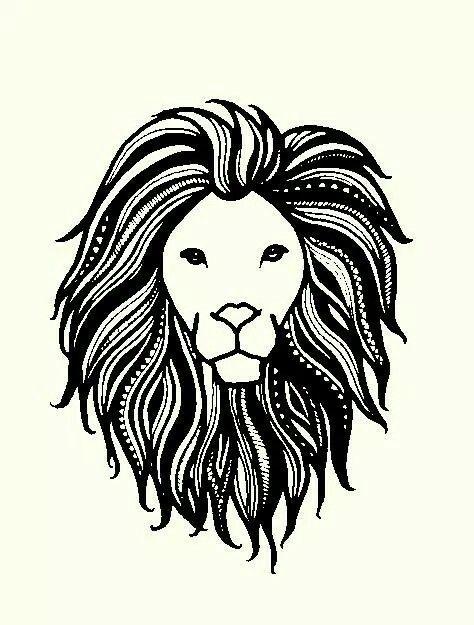 Graphic design art black and white  Lion henna tattoo art black and white sketch drawing graphic design ...