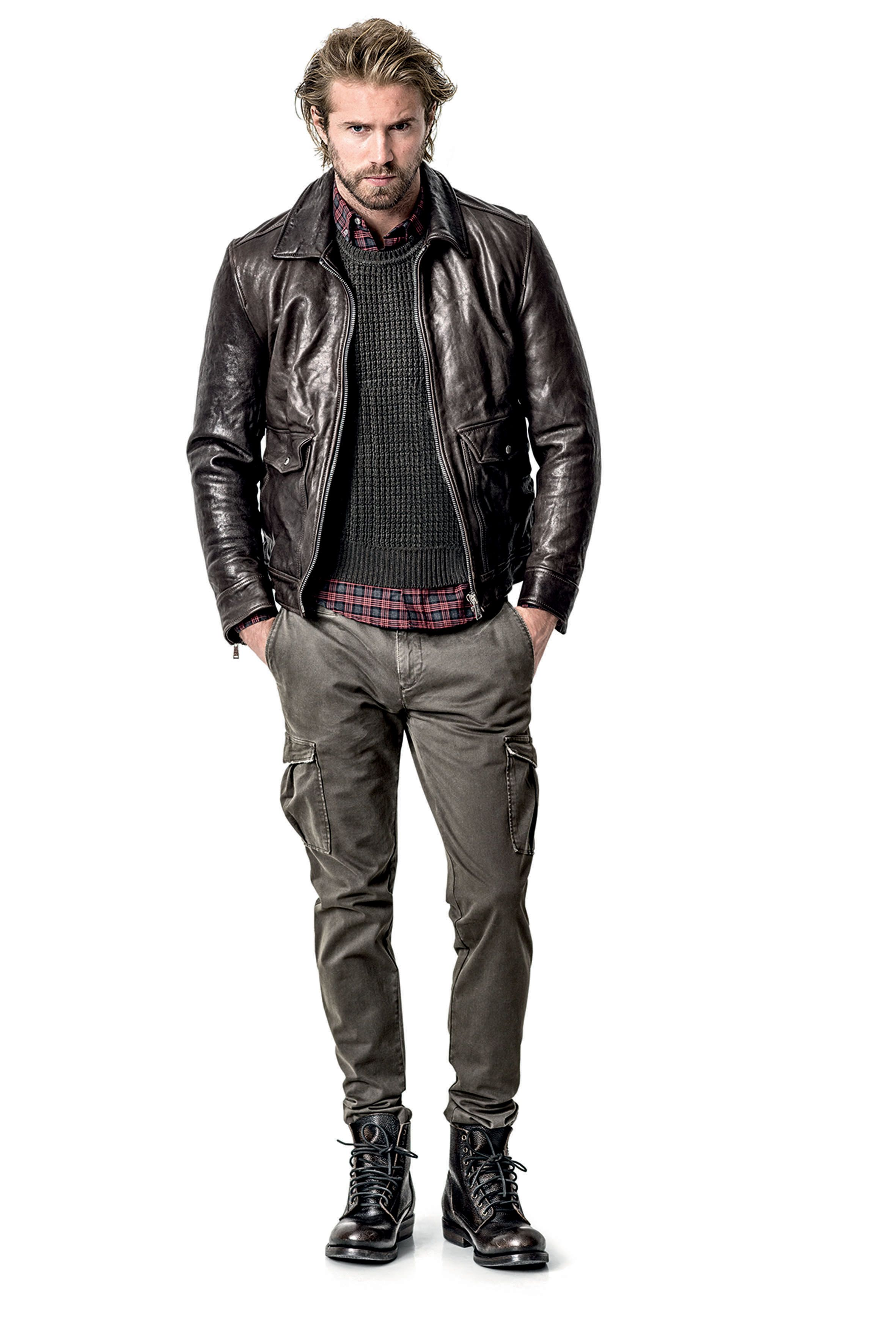 7 For All mankind - #menswear #style #jacket #brown #leather #
