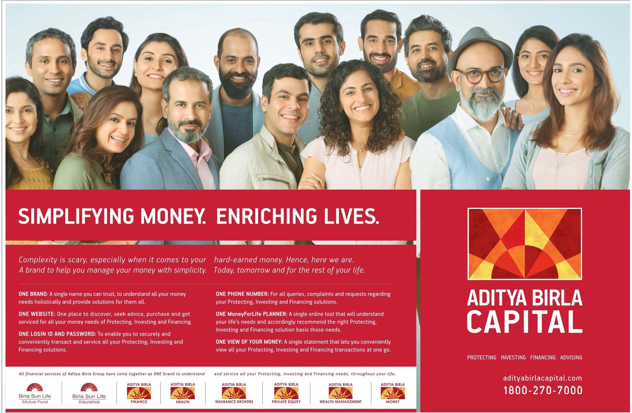 Aditya Birla Capital Simplifying Money Enriching Lives Ad Times Of