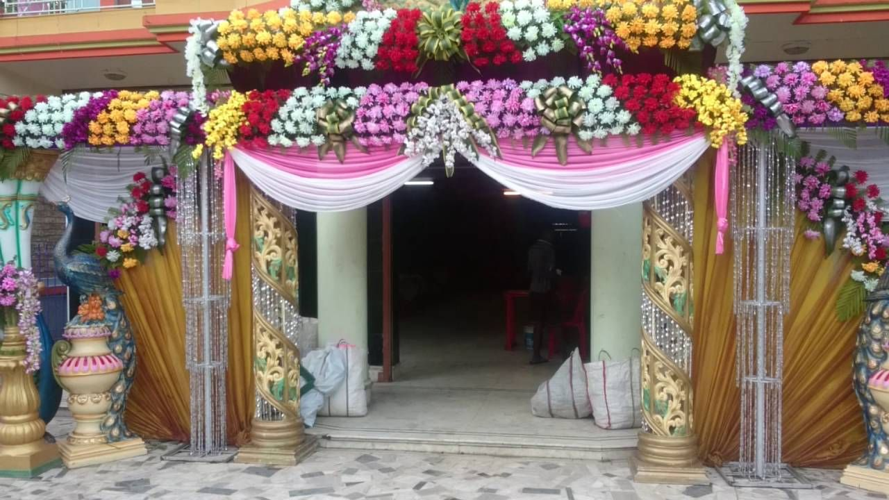 Home Gate Decoration With Flowers Wedding Gate Gate Decoration Wedding Entrance Decor