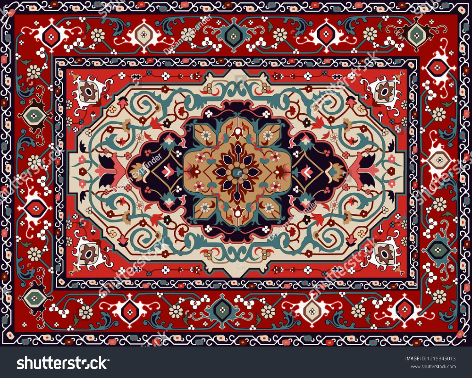 Persian Carpet Tribal Vector Texture Easy To Edit And Change A Few Colors By Swatch Window Vecto Persian Carpet Graphic Design Portfolio Inspiration Persian