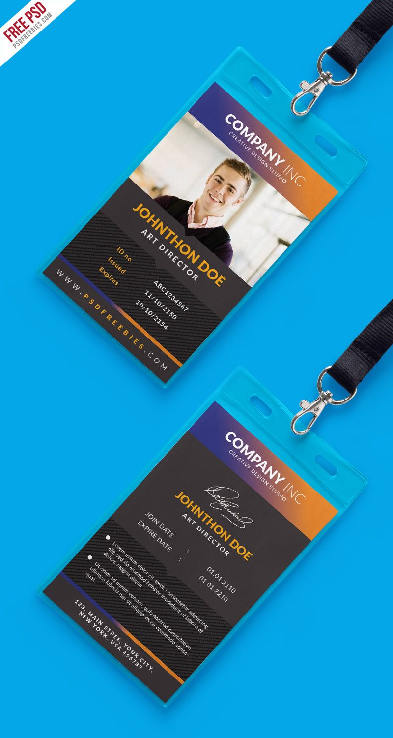 Free Creative Identity Card Design Template Psd Psdfreebies Com Identity Card Design Id Card Template Card Design