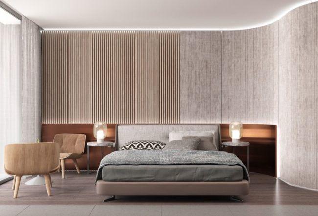 Schlafzimmergestaltung Ideen Modern Indirekte Beleuchtung Led Wandpaneele · Design  HotelModern ...