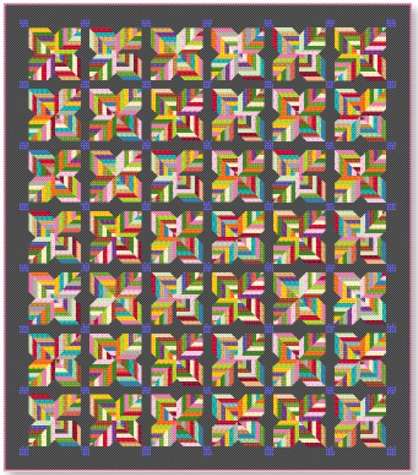 free pattern = Maisy Daisy queen size quilt by Maho Schwartz ... : queen size quilt patterns free - Adamdwight.com