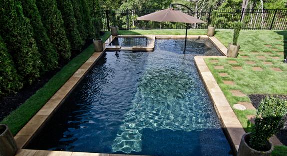 anthony sylvan geometric backyard swimming pool on beautiful inground pool ideas why people choose bedrock inground pool id=63701