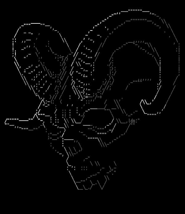 One Line Ascii Art Devil : Devil satan skull ascii ansi pinterest