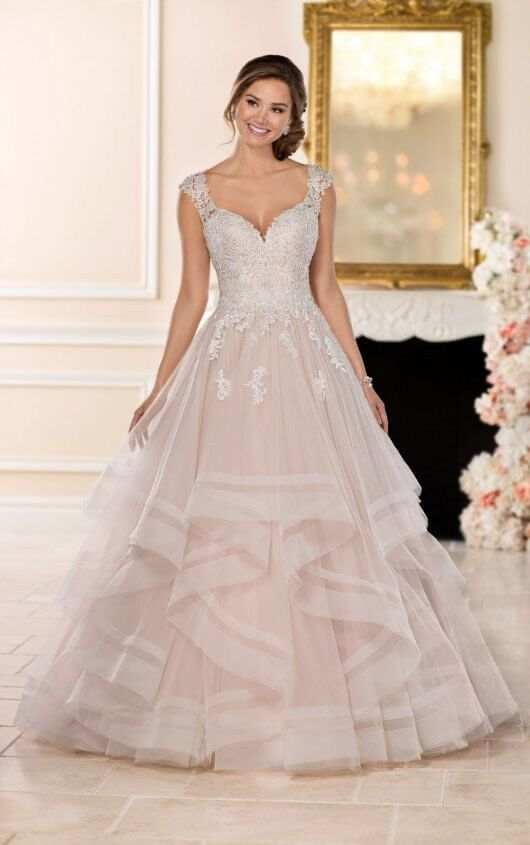 b48f9a30da3 Stella York 6501 - In search for a wedding dress to complete your happily  ever after  Look no further than this princess ballgown with horsehair  skirt from ...