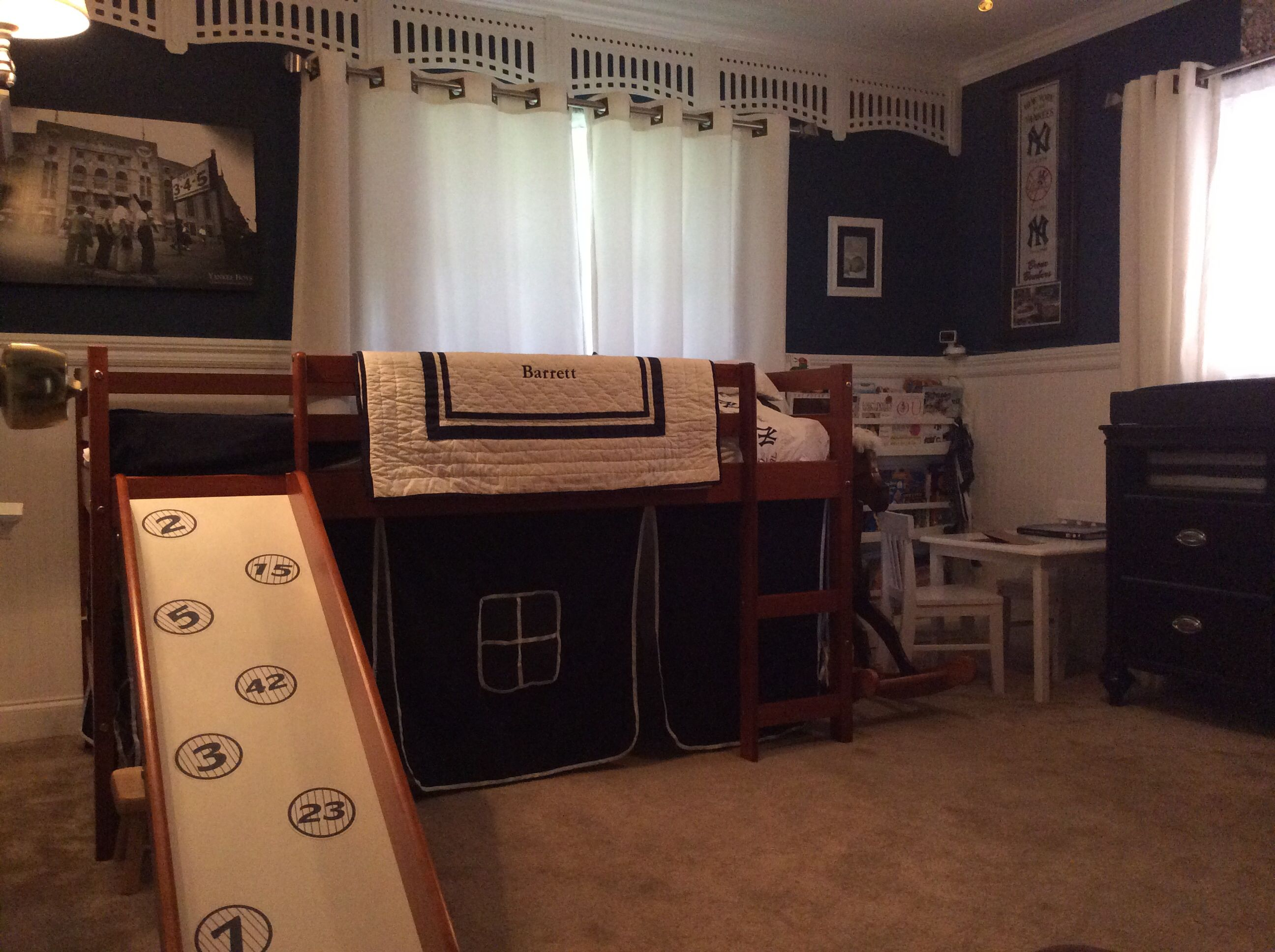 Yankee Theme Baseball Bedroom