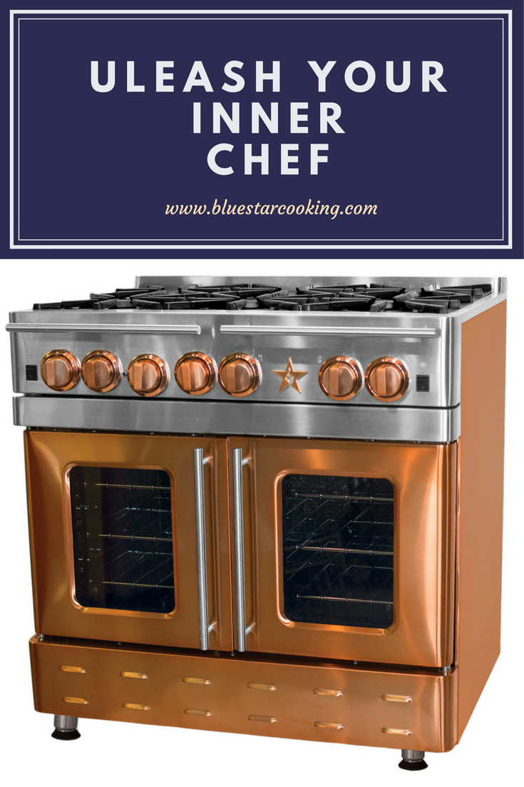 Simply Beautiful Our Bluestar Oven Are The Showpiece Of Our Kitchen Everyone Stops And Stares When Kitchen Design Trends Freestanding Ranges Copper Kitchen