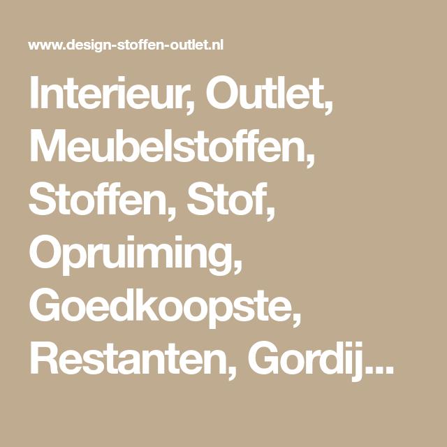 Interieur, Outlet, Meubelstoffen, Stoffen, Stof, Opruiming ...