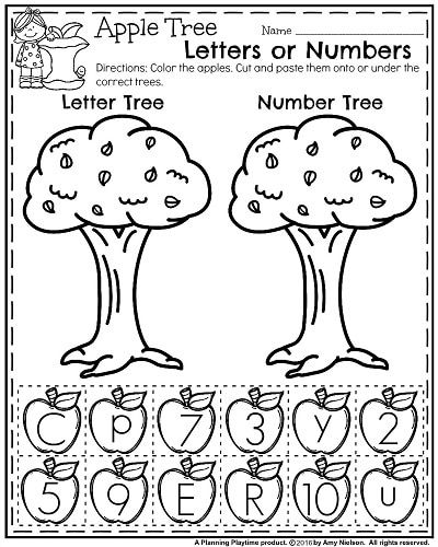 November Preschool Worksheets Fall Preschool Worksheets And Number