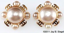 Chanel Large Mabe Pearl CC Earrings
