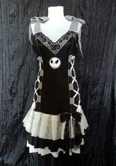 Black and White Vintage Styled Nightmare Before Christmas Dress ...