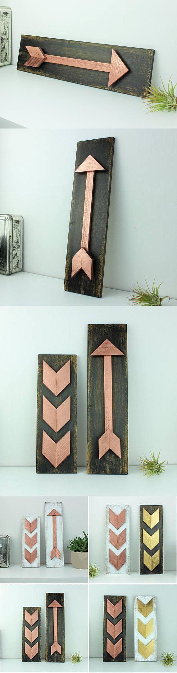 Boho Wohnkultur, Rose gold Pfeil-Wand-Kunst, moderne Pfeil-Symbol ...