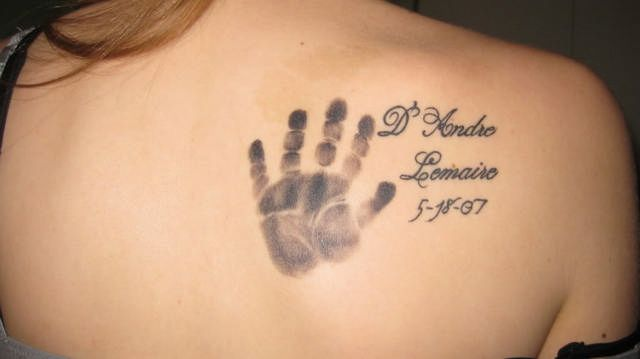 Pin By Angel Madden On Maison Tats Baby Name Tattoos Baby