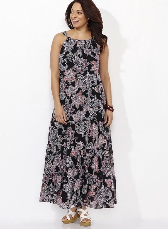 72dfa528ec65 CATHERINES FLORAL DELIGHT MAXI DRESS - PLUS SIZE 5X (34/36W) #Catherines  #Maxi