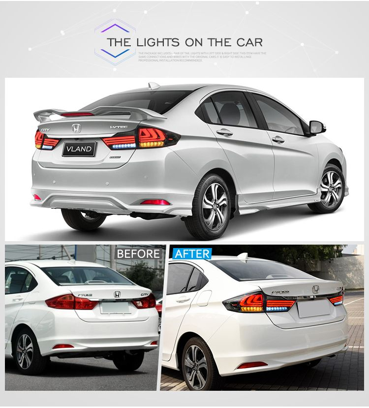 The Item Is Vland Honda City Tail Lamp The Color Is Red And Smoked You Can See The Real Product Of The Light Vland Carlam Honda City Honda Buying New Car