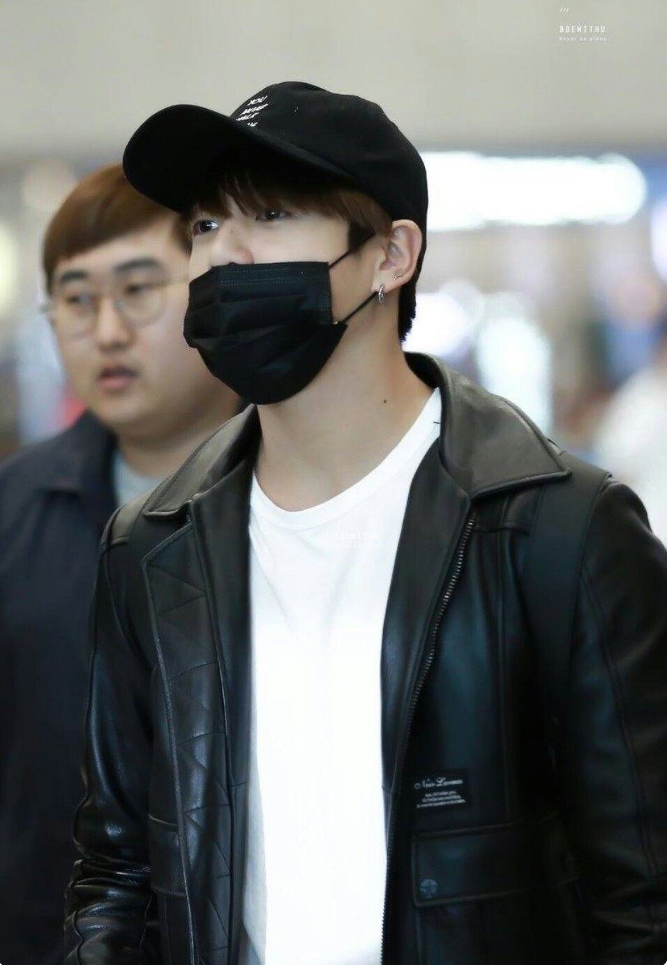 Leather jacket aesthetic - Jungkook In White Shirt And Black Leather Jacket Is Aesthetic