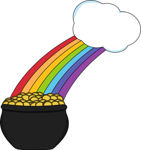 Pot Of Gold With Rainbow And Cloud Clip Art Pot Of Gold With Rainbow And Cloud Image Pot Of Gold Clip Art Clouds