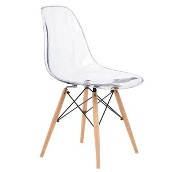 pcwb silla eames pata de madera acrilico