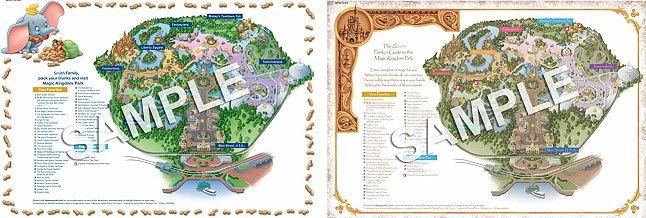 FREE customized Walt Disney World maps   Dreams and ...