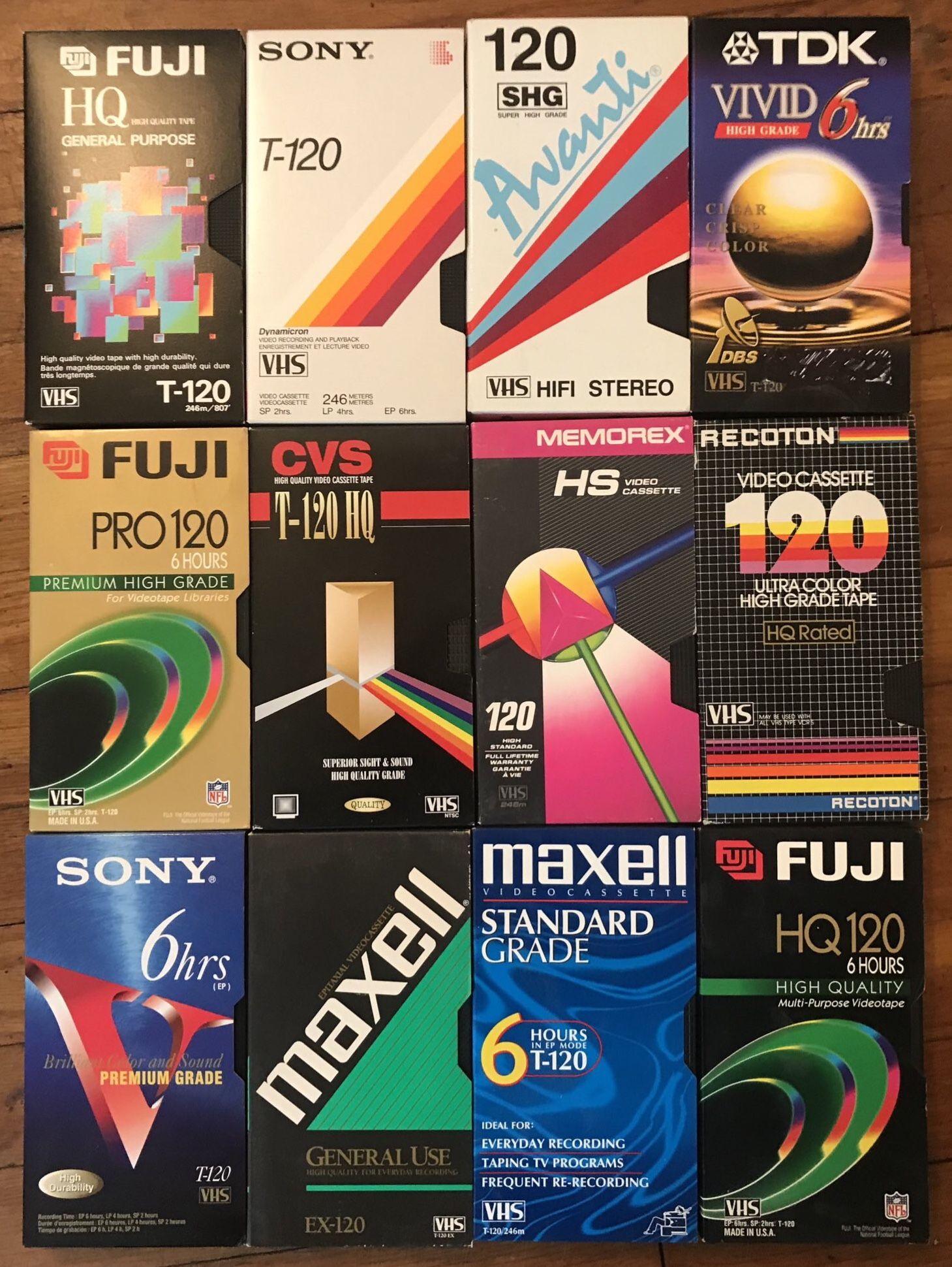 Vhs Tape Covers Packaging Design Trends Vhs Cassette 90s Design